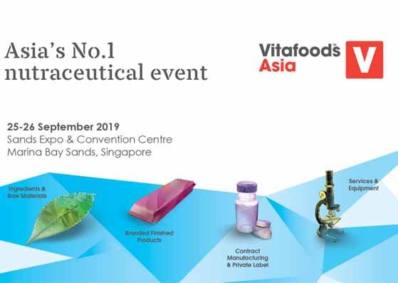 Meet us at the 9th Vitafoods Asia in Singapore ! (25th--26th, September,2019)